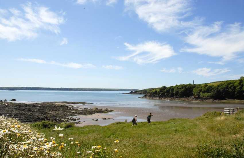 Sandy Haven on The Pembrokeshire Coast Path which wends its way along 180 miles of stunning Welsh coastline