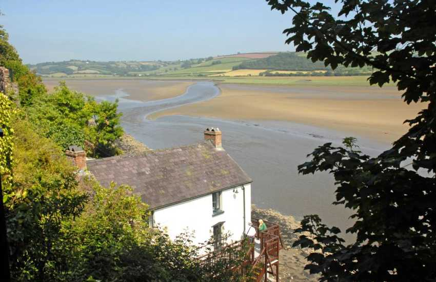 Dylan Thomas Boathouse in Laugharne - the sleepy village once home to this famous poet