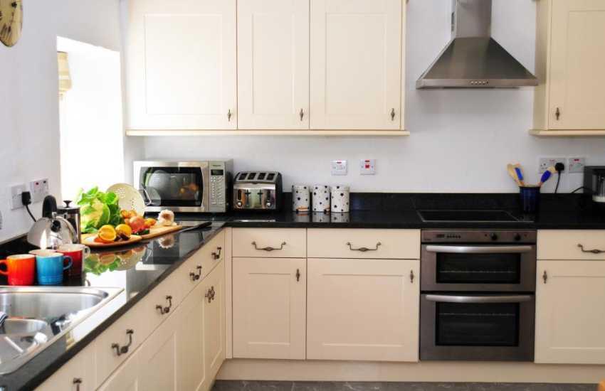 Spacious open plan kitchen on ground floor