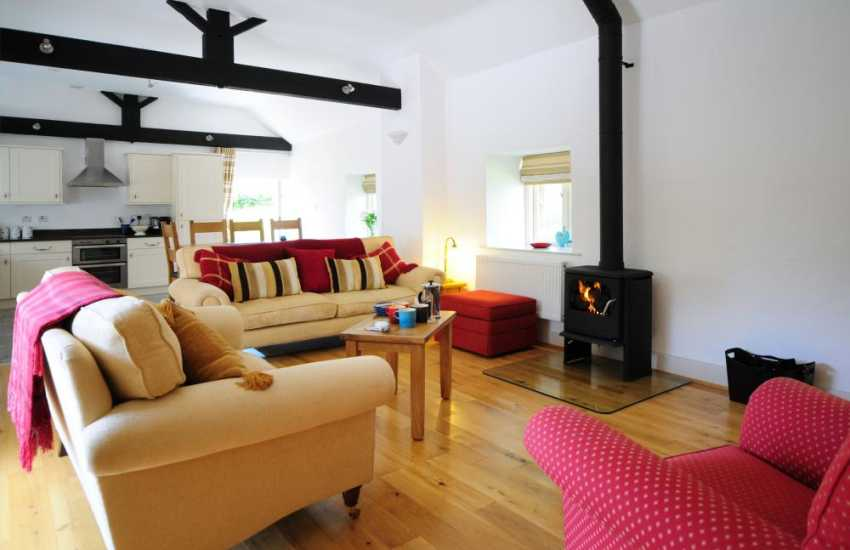 Open plan living in luxury Anglesey holiday cottage