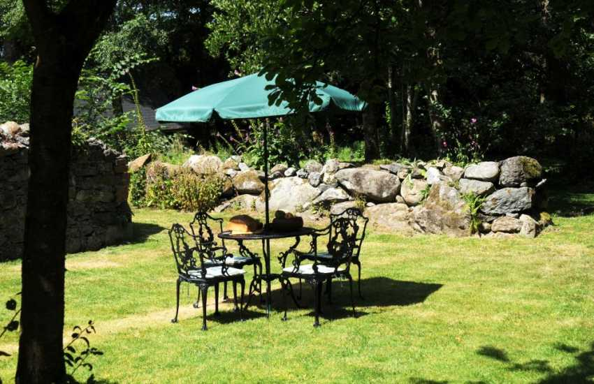 Holiday cottage Criccieth - garden