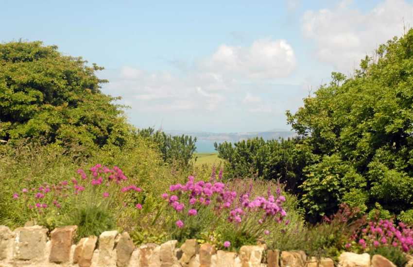 North Pembrokeshire holiday house with coastal sea views and private gardens