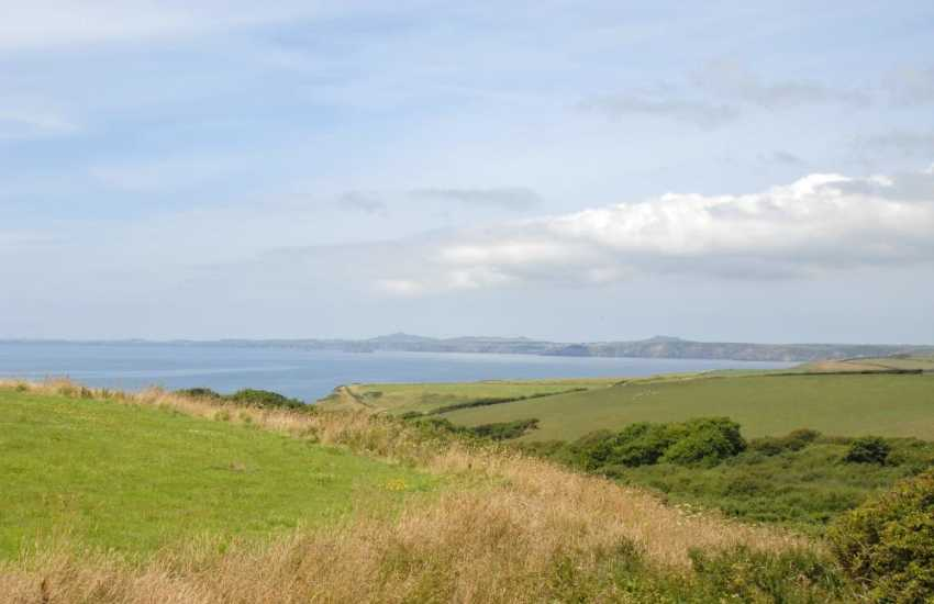 A fabulous panorama over St Brides Bay and beyond from the first floor of The Old Farmhouse