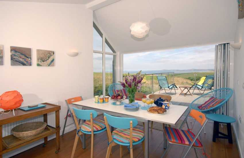 Holiday home  Broad Haven, Pembrokeshire - sun room with coastal views