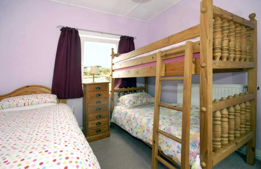 Pembrokeshire coastal holiday home - children's bedroom