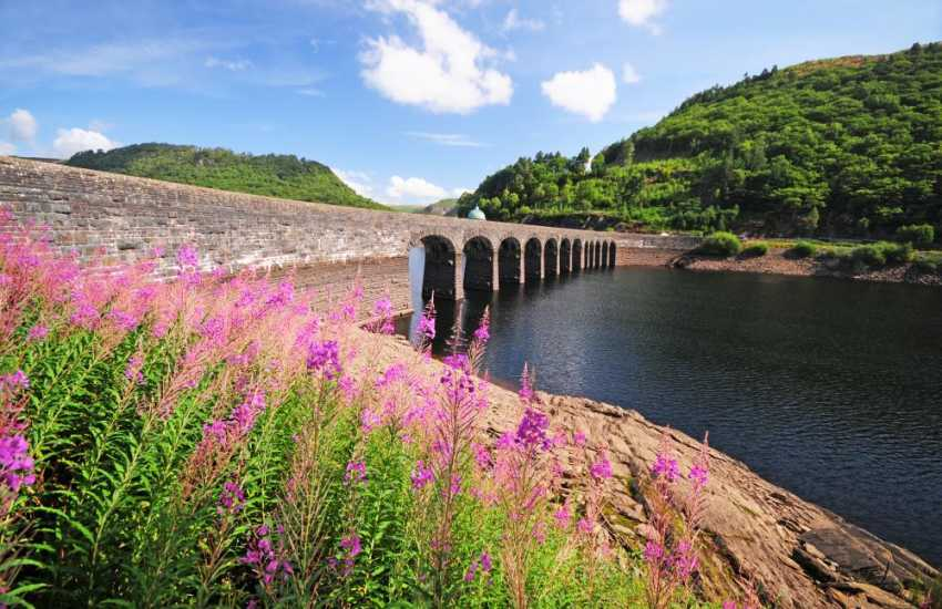Elan valley cycle trail takes you along some of the most stunning scenery in mid Wales