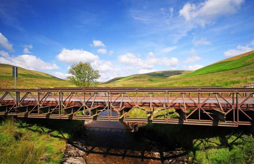 Open roads to enjoy at the Elan valley, Rhayader