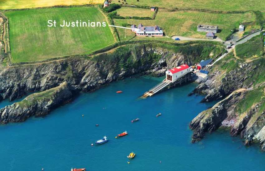St Justinians holiday home on the Pembrokeshire Coast Path