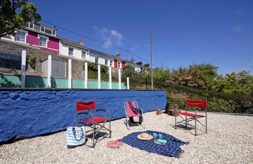 Holiday home near Aberaeron - sheltered seaside terraced garden