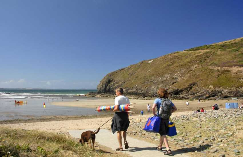 Nolton Haven - a pretty sheltered sandy cove with lots of rock pools at low tide, many of our cottages take dogs