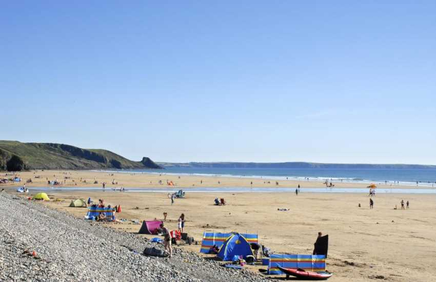 Newgale Sands, Pembrokeshires's premier surfing beach - great for all kinds of water sports and kite buggying