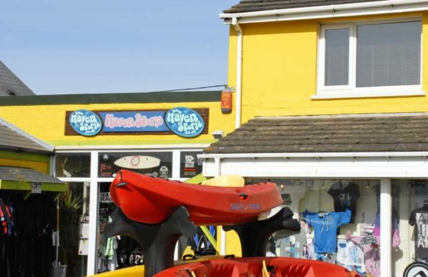 Haven Sports, Broad Haven (north), Newsurf Newgale & Ma Simes St Davids hire out water sports equipment - kayaks, surfboards, wetsuits, windsurfers and surf wear