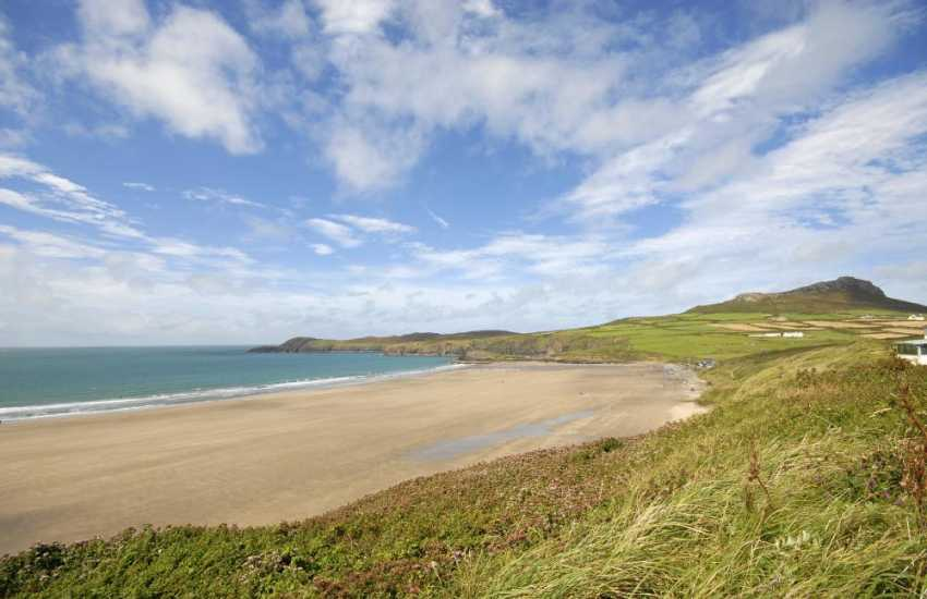 Whitesands Bay (Blue Flag) - popular with families, water sports enthusiasts and dog friendly during the winter months