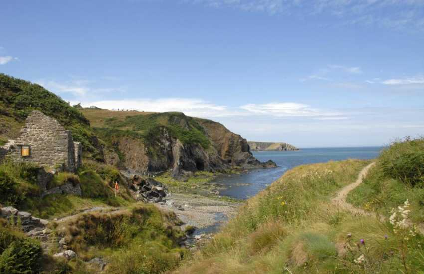 The secluded little rocky cove, Aberfelin. Just a few minutes walk down the hill from the village of Trefin