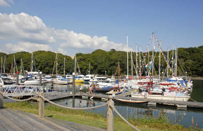 Neyland Marina,There's a bar, restaurant and chandlery at the Marina and the Brunel Cycleway, which follows the route of an old railway line to Haverfordwest