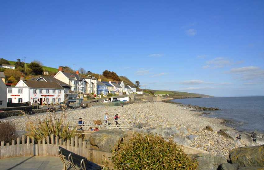 Amroth is a popular coastal village - great for all kinds of watersports and at low tide search for the remains of a  petrified forest.