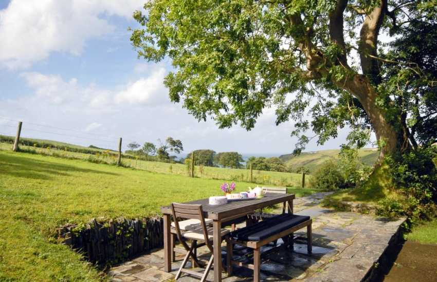 Cardigan Bay cottage with private gardens overlooking Ceibwr Cove