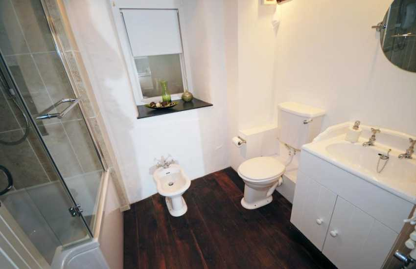 Holiday cottage North Wales - bathroom on ground floor