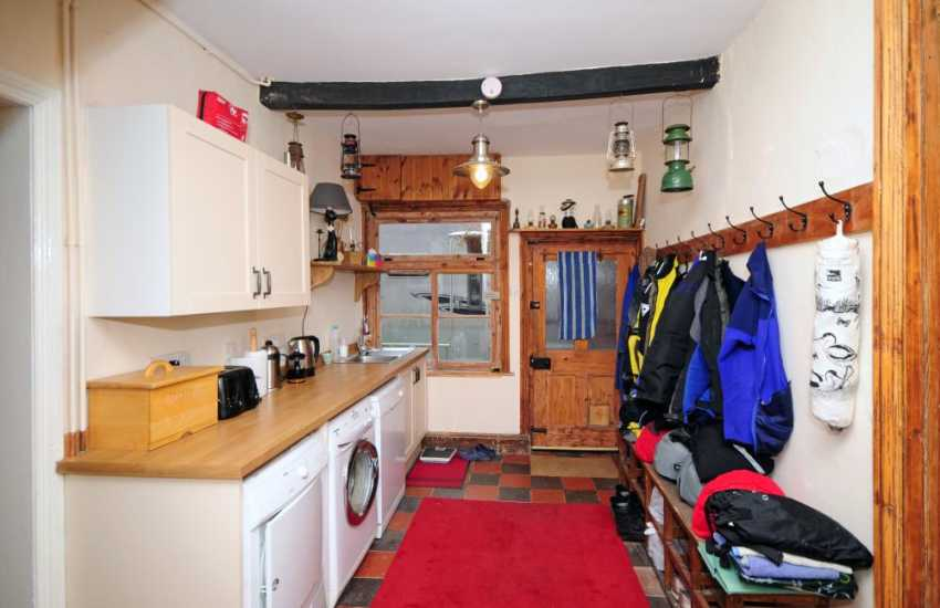 Nature lovers holiday house Mid Wales - utility room