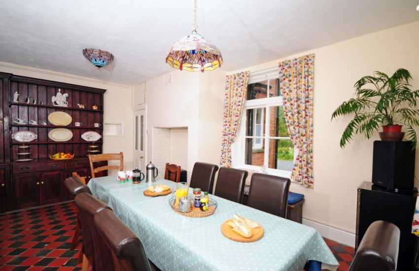 Country house holiday Mid Wales  - dining room