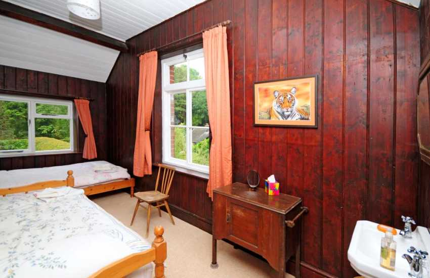 Large holiday house Mid Wales - bedroom