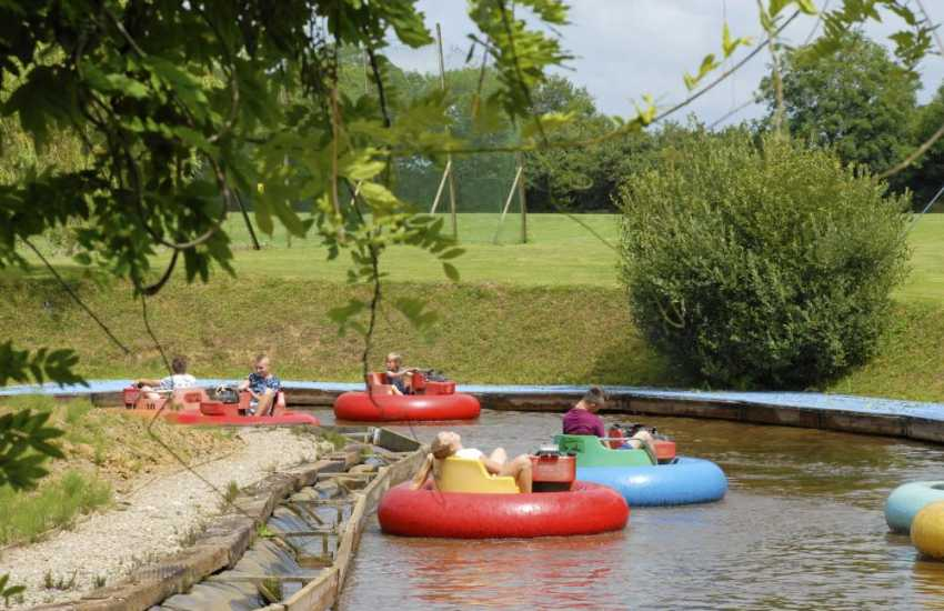 Heatherton Country Sports Park near Tenby has fun for all the family - especially the bumper boats!