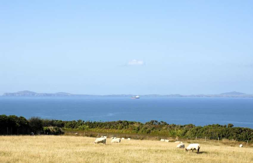 St Brides Bay and the St Davids Peninsula in the distance from East Hook Barn