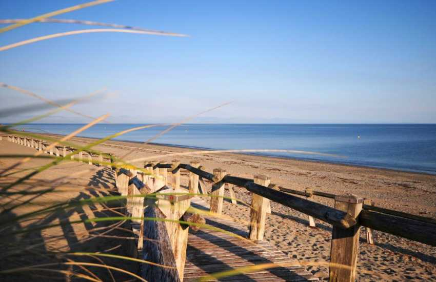 Pwllheli beach on the Llyn Peninsula