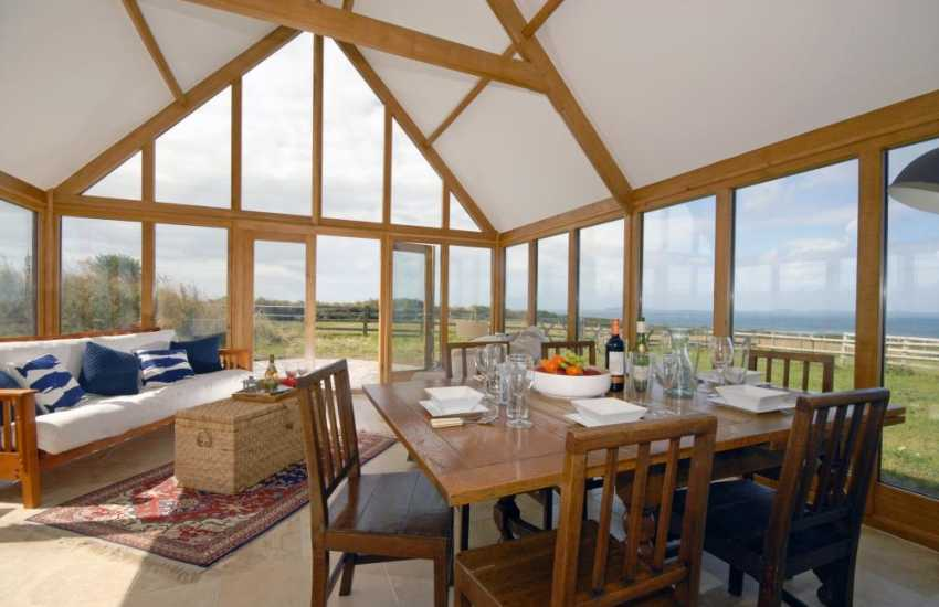 Dale self-catering holiday home - conservatory dining room