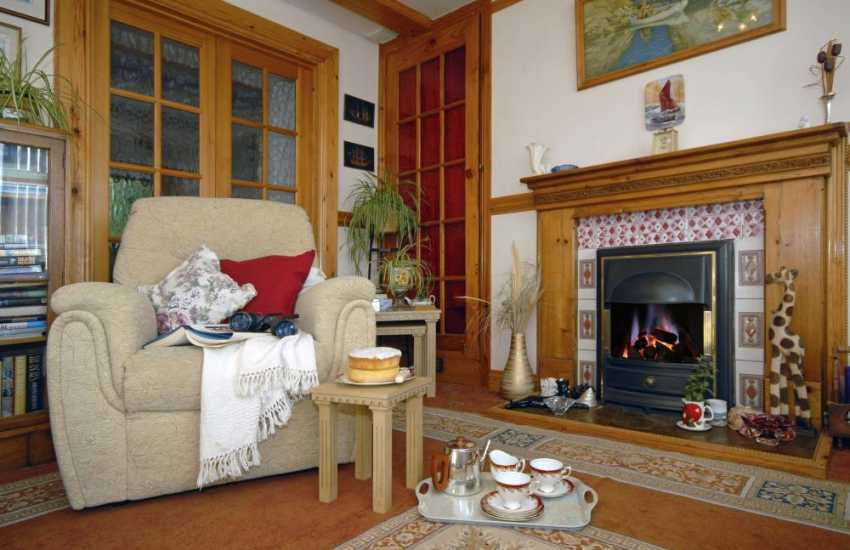 Pembrokeshire holiday cottage cosy and warm throughout the year