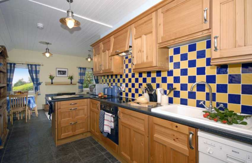 Self-catering cottage, Laugharne - modern kitchen