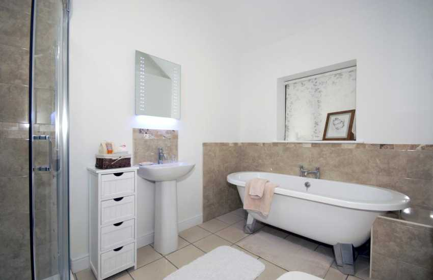 Carmarthenshire barn conversion - master en-suite bathroom