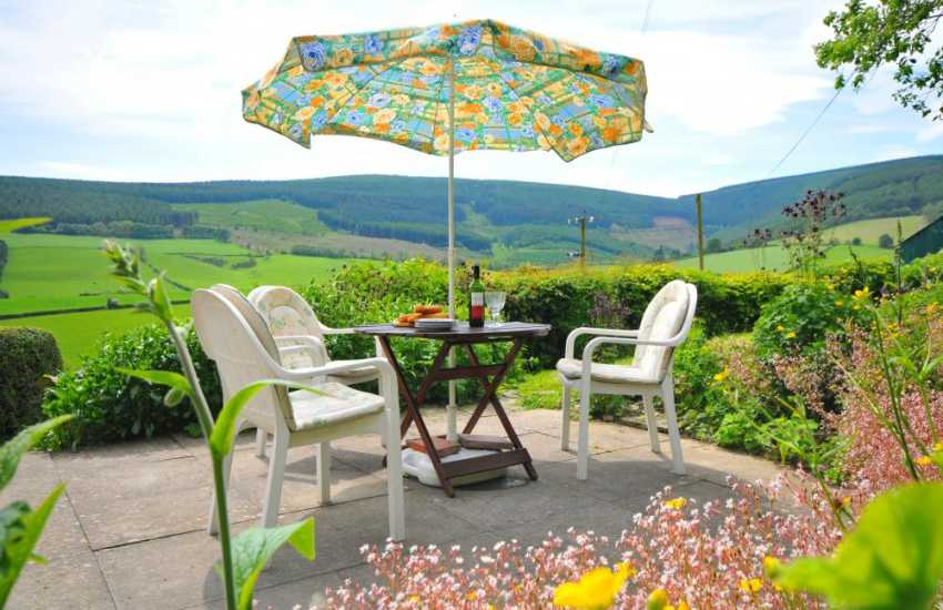 Mid Wales holiday cottage - patio