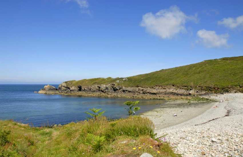 Aberbach - a sheltered pebble and sand beach tucked away on the North Pembrokeshire coast