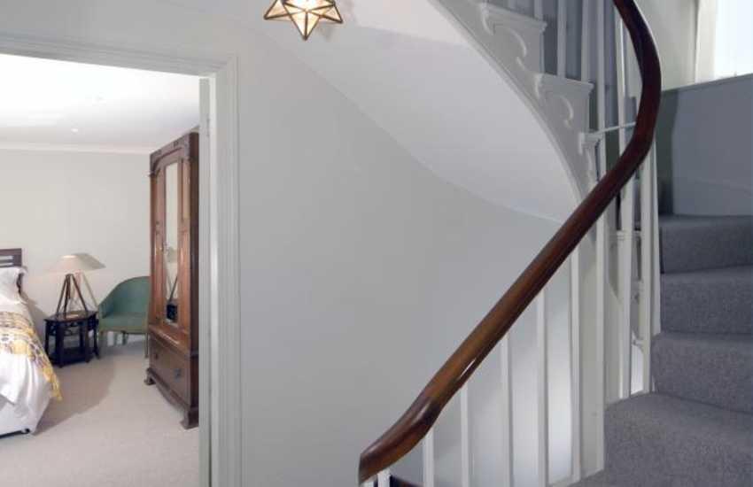 Aberystwyth holiday house - elegant stairwell