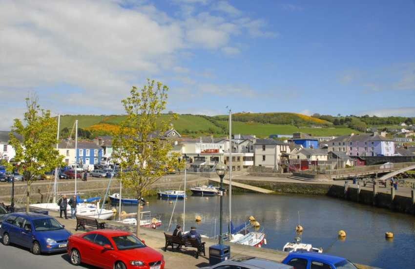 Enjoy stunning views from the house over Aberaeron town and inner harbour