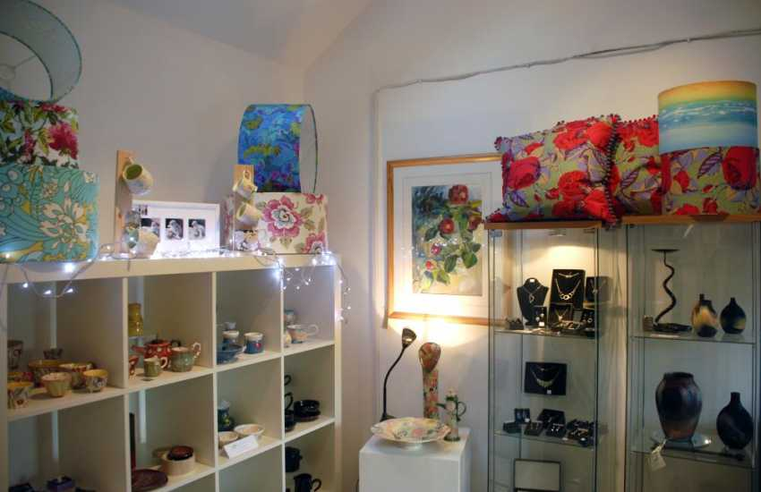 Pembrokeshire Creations Gallery and Gift Shop at Nant y Coy Mill offer a wide choice of beautiful products created by local craftsmen