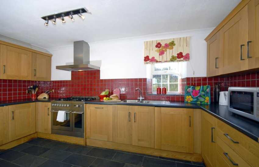 Druidston self-catering holiday house - modern fitted kitchen