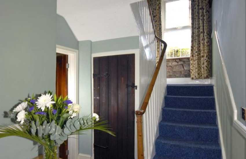 North Pembrokeshire 19th century farmhouse - glass door fittings and luxurious soft furnishings throughout