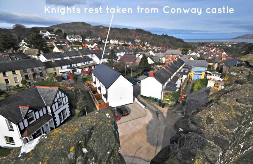 Conwy castle north Wales holiday cottage - exterior