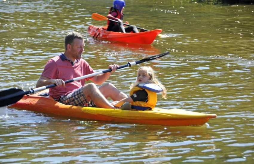 Kayak hire is available at various outlets along Pembrokeshire - great fun for an hour or two!