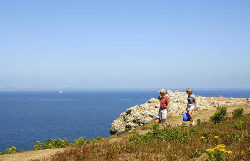 The Pembrokeshire Coast Path - enjoy fabulous scenery, flora and fauna and cliff top walking throughout the year