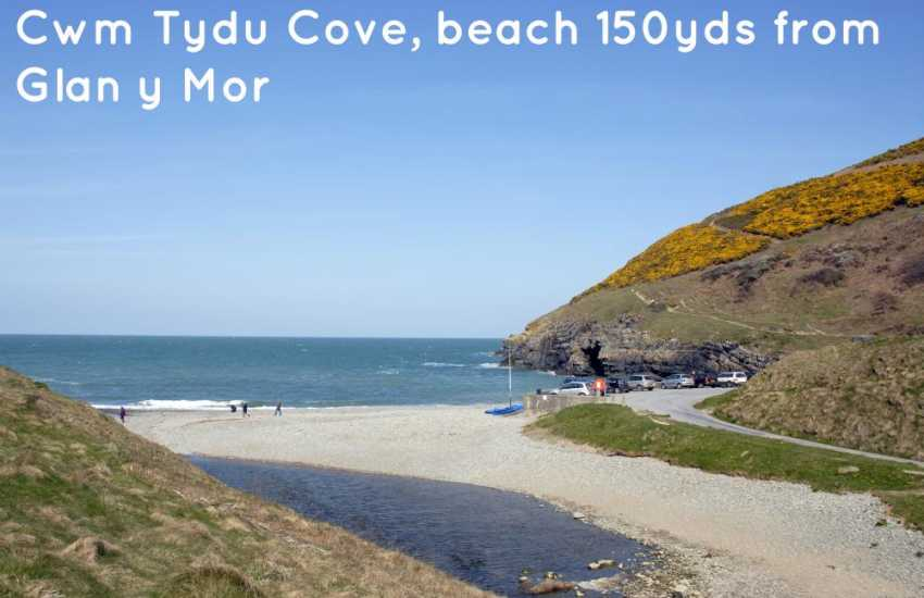 Cwm Tydu cove. Once a haven for smugglers