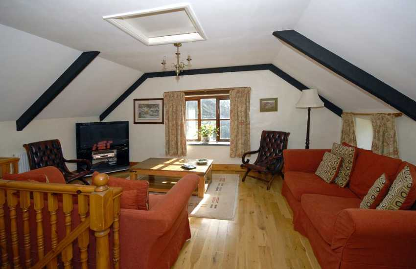 North Pembrokeshire holiday cottage near Whitesands Bay - comfortable sitting room with Freeview digital tv