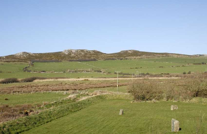 Enjoy the magnificent views to Carn Llidi Mountain from the cottage