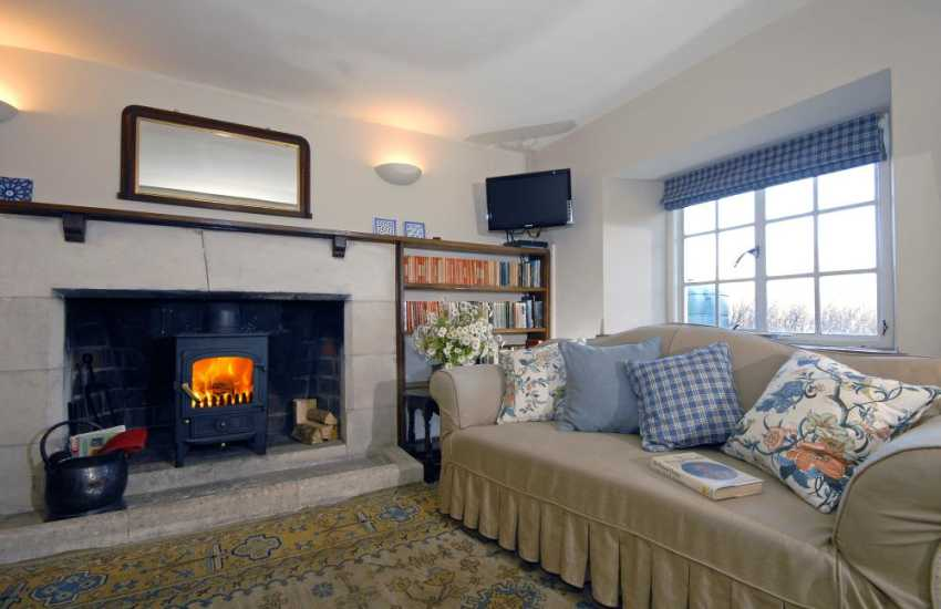 St Davids holiday home with cosy parlour and log burning stove