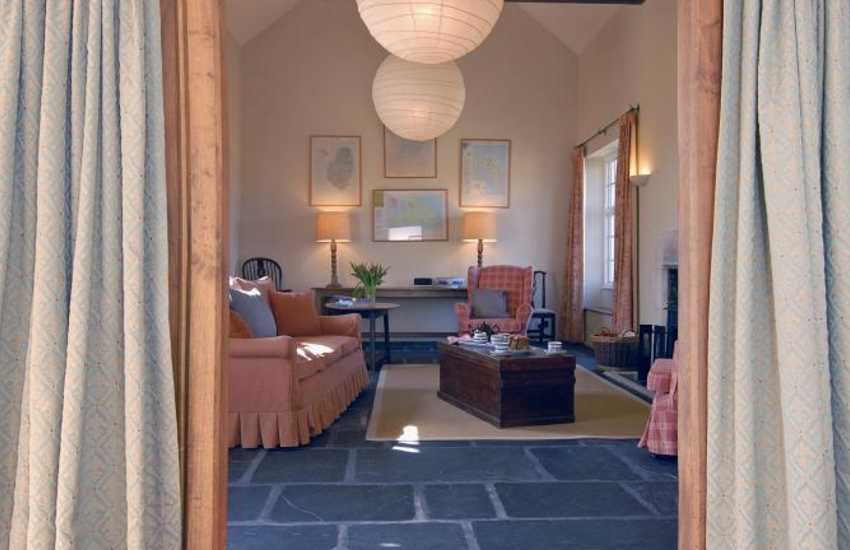 St Davids Pembrokeshire - unique holiday home sitting room with under floor heating