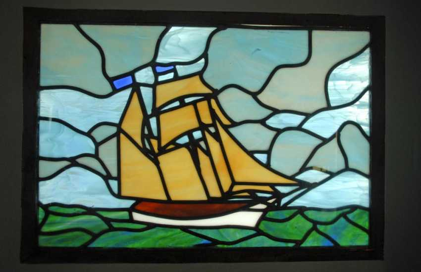 Stained Glass window at 'Drwsgobaith', St Davids