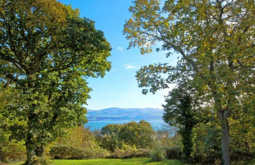 Views across the Menai Strait from the holiday cottage on Anglesey