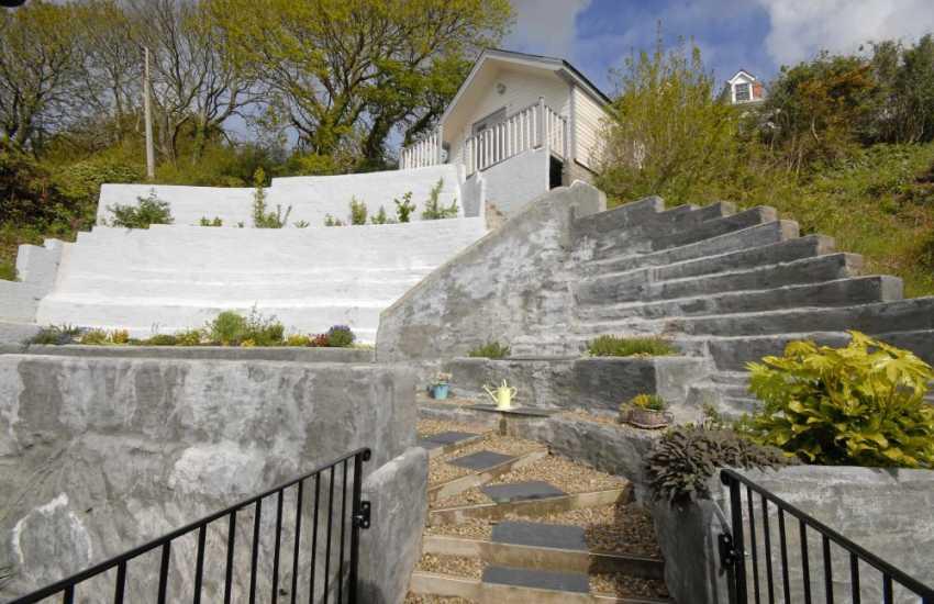 South Pembrokeshire coastal holiday home - terraced gardens